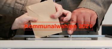 Foto von einer Person die gerade ihren Wahlzettel in die Wahlurne legt.